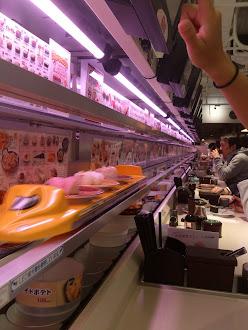 Sushi delivered by Shinkansen