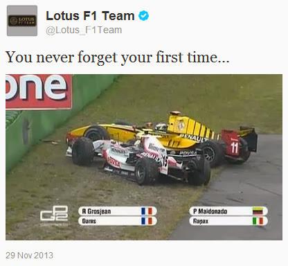 Ты никогда не забудешь свой первый раз - из твиттера Lotus 29 ноября 2013