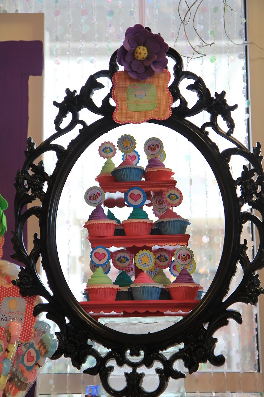 Colorful Owl Dessert Table