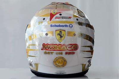 шлем Фернандо Алонсо для Гран-при Монако 2012 - вид сзади