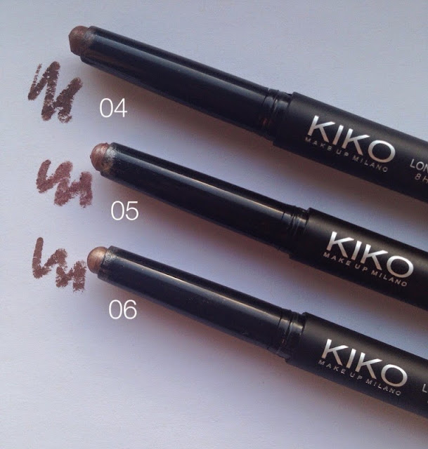 KIKO Long Lasting Eyeshadow Sticks, KIKO long lasting eyeshadow sticks review, KIKO Long Lasting Eyeshadow stick swatches