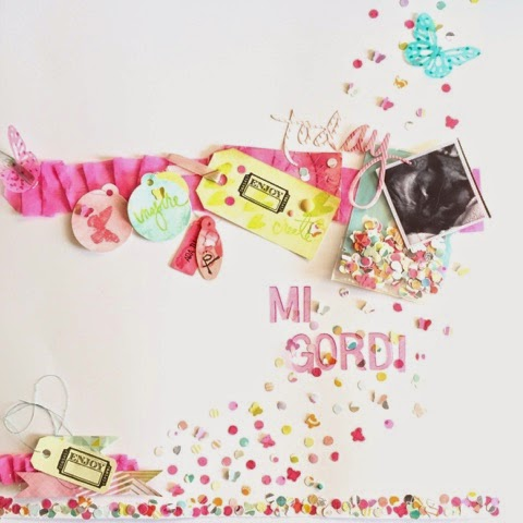 Scrap, scrapbooking, confetti, clean and simple, lay out