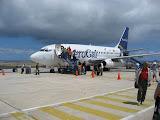 Arrival at Baltra Airport, Galapagos