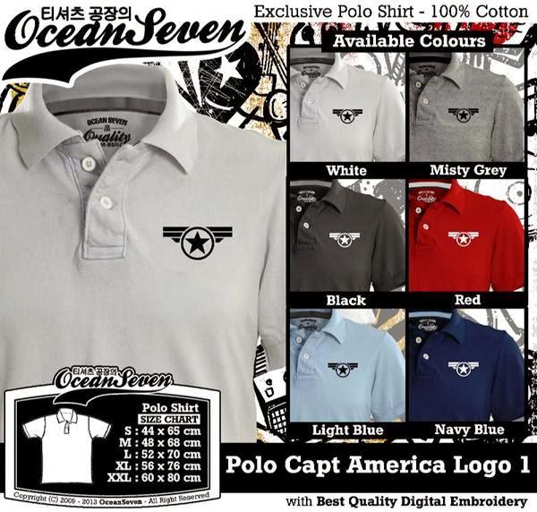 POLO Captain America Logo distro ocean seven