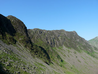 Green Crag with Haystacks beyond.