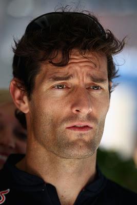 Марк Уэббер хмурится на Гран-при Бразилии 2011