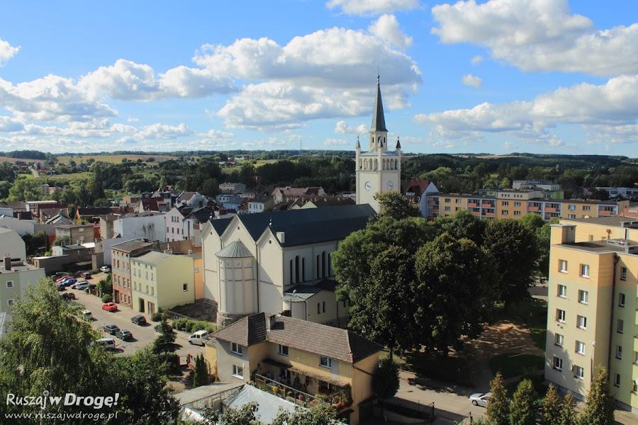 Widok na kościół pw. Św. Katarzyny z Zamku w Bytowie