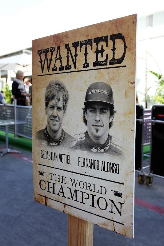 разыскивается чемпион мира - Себастьян Феттель и Фернандо Алонсо претенденты на титул на Гран-при США 2012