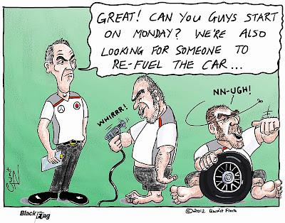Мартин Уитмарш и механики McLaren - комикс Black Flag
