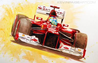 Фернандо Алонсо Ferrari F2012 - картина Kevin Paige