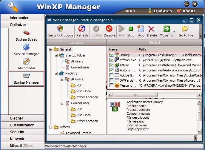XP Manager, Tối Ưu Hóa Windows XP, Tăng Tóc Toàn Diện Windows XP, Tăng Tóc Windows XP, Tăng Tóc Laptop, Tăng Tóc Máy Tính