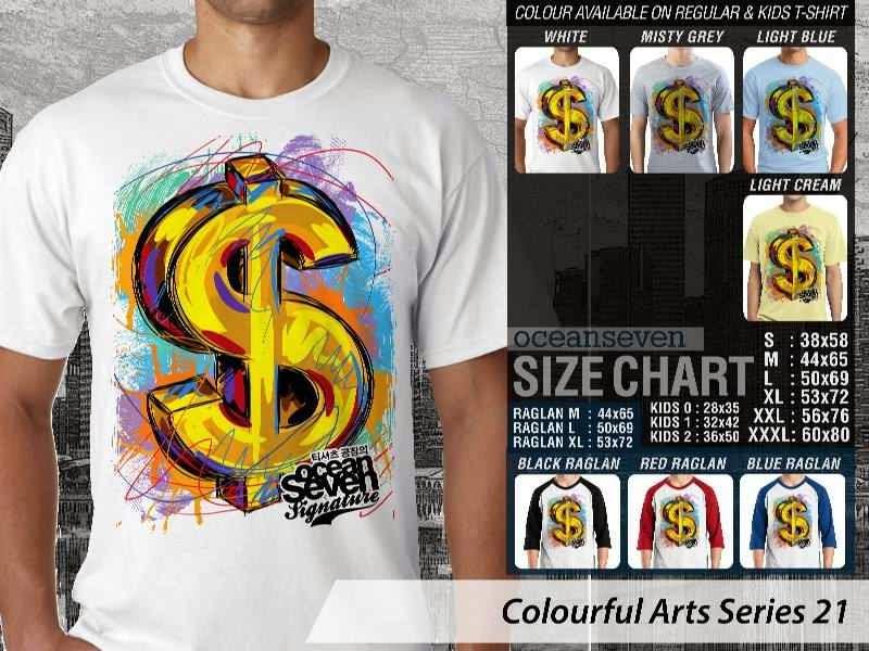 KAOS keren Colourful Arts Series 21 dollar money | KAOS Colourful Arts Series 21 distro ocean seven