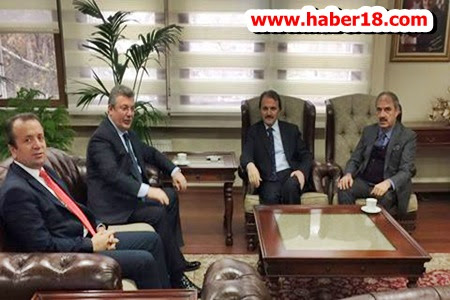 Çankırı Milletvekili Akbaşoğlu ile Belediye Başkanları Vakıflar Genel Müdürü ile Görüştü