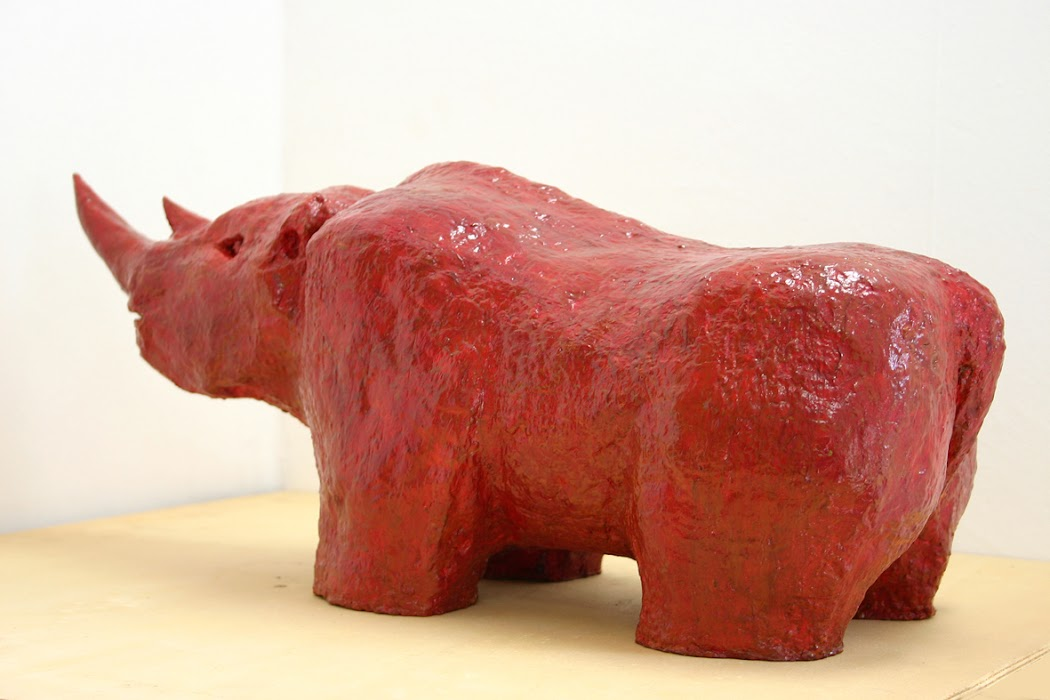 neushoorn (beeld van frank waaldijk, model)