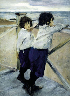 Valentin Serov - Children (Sasha and Yura Serov)