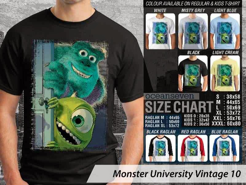 KAOS Monster University 10 Film Lucu distro ocean seven