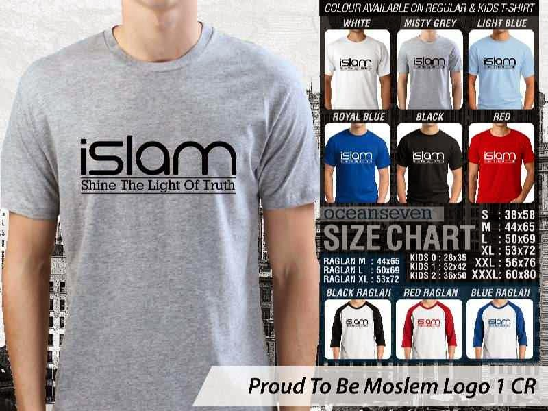 KAOS Islami Muslim Islam shine the light of truth Proud To Be Moslem Logo 1 distro ocean seven