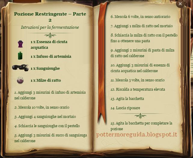 Pozione Restringente - Parte 2 - Istruzioni