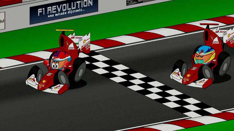 Виталий Петров быстрее Фернандо Алонсо в Ferrari