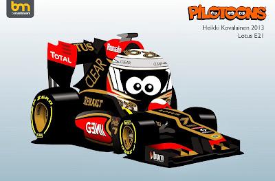 Хейкки Ковалайнен 2013 Lotus E21 - pilotoons