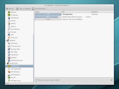 HardInfo Ubuntu pantalla
