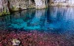 Amazing underwater colours in the cave of pirate Haxhi Aliu