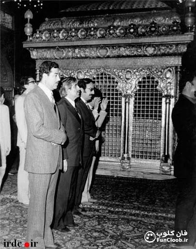 عکس صدام حسین در حرم امام رضا (ع)