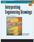 Text: Interpriting Engineering Drawings. Description: Picture of Aaron's Product Design text book.