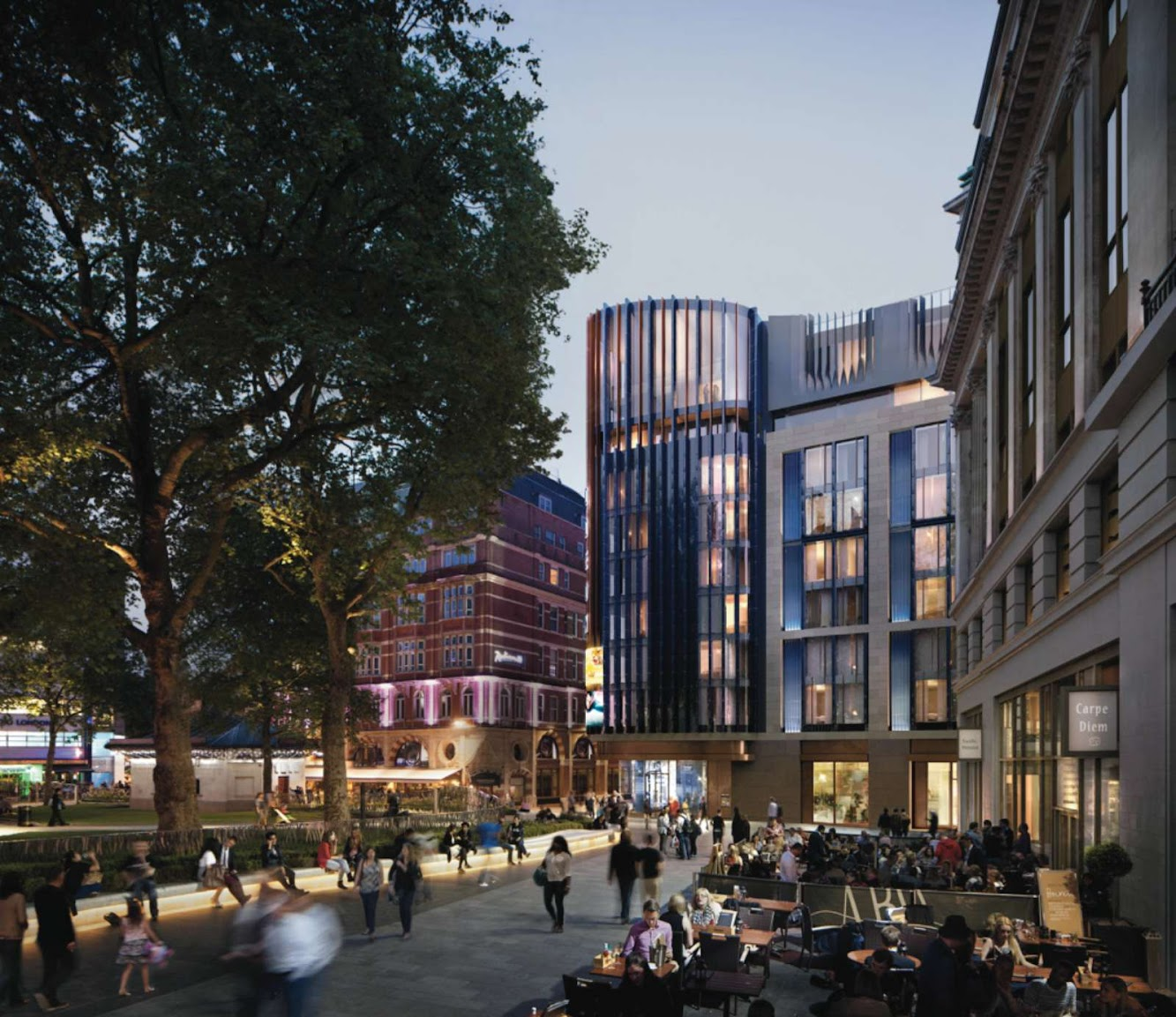 Londra, Regno Unito: Hotel Plans in London'S Leicester Square by Woods Bagot