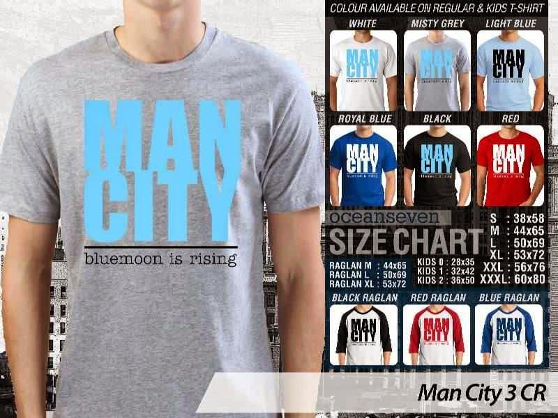 KAOS Man City Manchester City 3 Liga Premier Inggris distro ocean seven