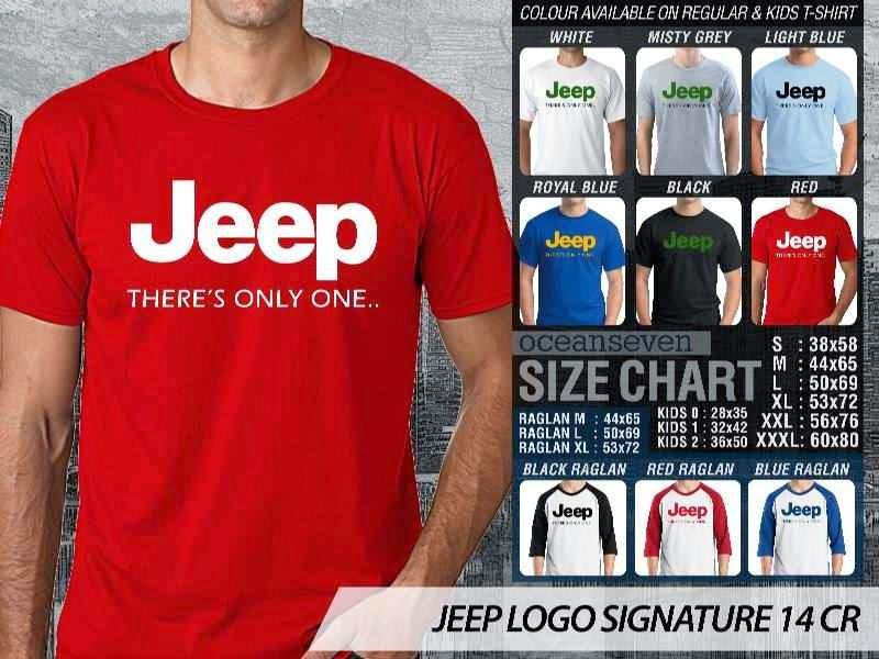 jual kaos jeep Logo Signature 14 distro