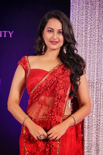 Sonakshi Sinha Beautiful Wallpapers in Red Dress