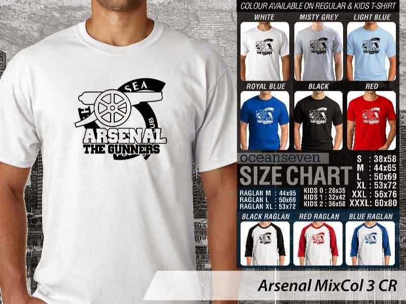 Kaos Bola Arsenal 17 Liga Premier Inggris distro ocean seven