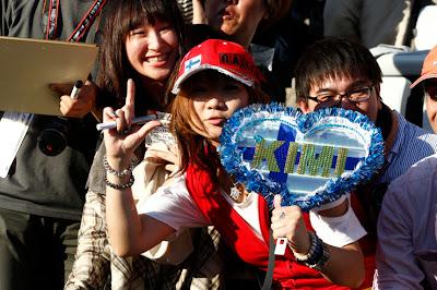 болельщица Кими Райкконена на Гран-при Японии 2012
