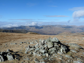 Rampsgill Head - our second Wainwright. Fairfield to Helvellyn and Catstycam are on the horizon.