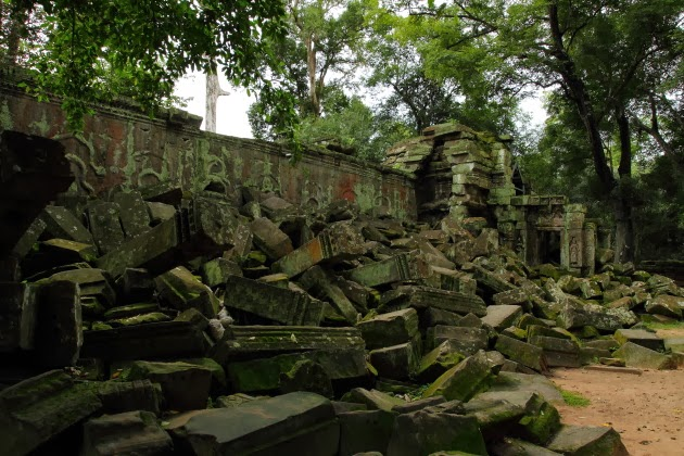 Stone of the Ta Prohm Temple, Siem Reap, Cambodia