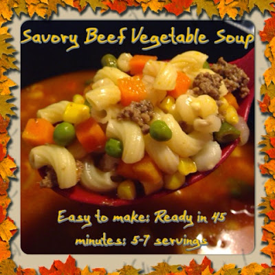 Savory Beef Vegetable Soup