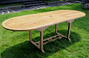 Table jardin teck naturel