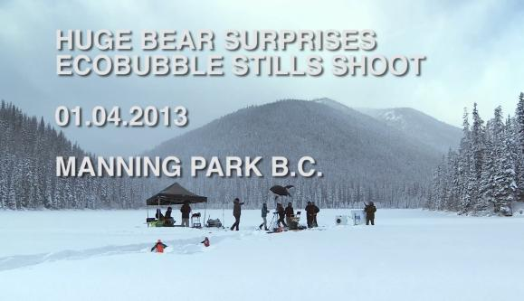 Huge Bear Surprises The Film Crew At Samsung EcoBubble Washing Machine Shoot