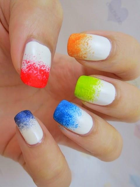 Rainbow Glitter Hearts Nail Art (Born Pretty Store Review)
