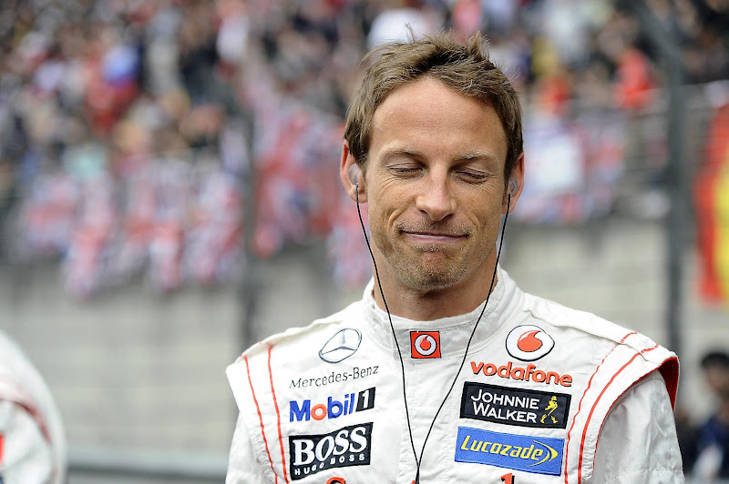 спокойный Дженсон Баттон перед стартом Гран-при Китая 2012