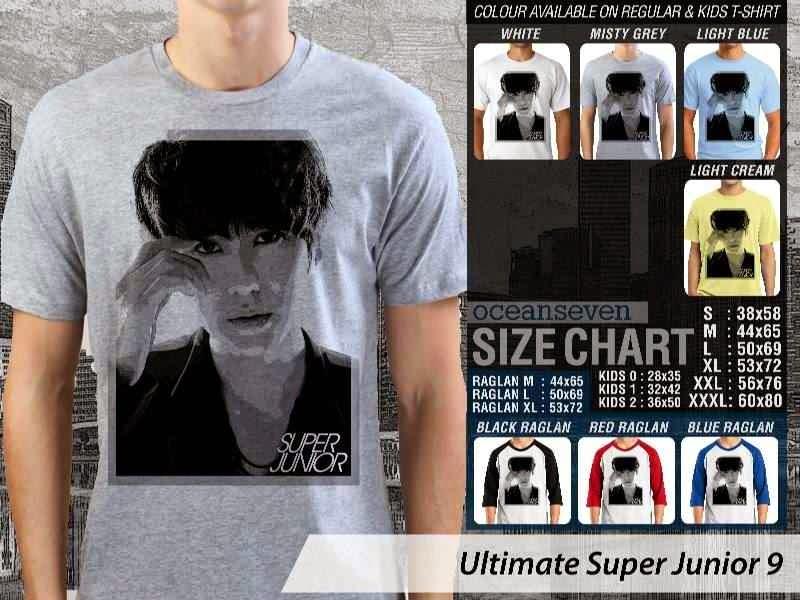Kaos K Pop SUJU Ultimate Super Junior 9 Boy Band Asal Korea distro ocean seven