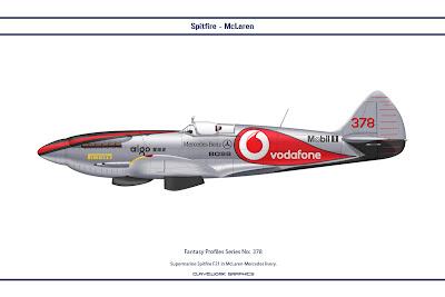 Supermarine Spitfire F21 in McLaren-Mercedes livery