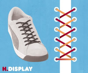 Memasang Tali Sepatu dengan Trik Display