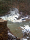 Vickery Creek snowfall 3