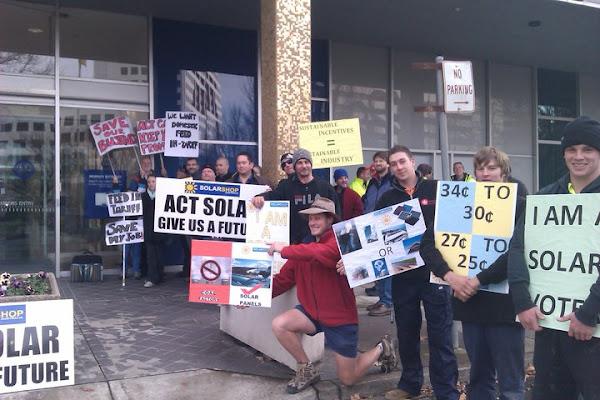solar protest