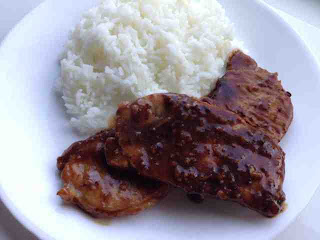 Quick Soy Pork Loin Chop with Rice