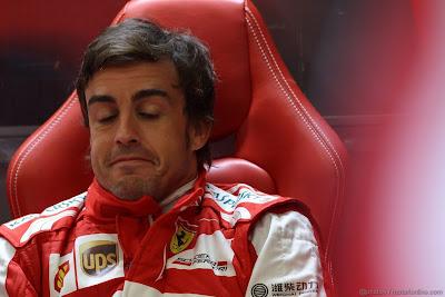 Фернандо Алонсо not bad в гараже Ferrari на Гран-при Бельгии 2013