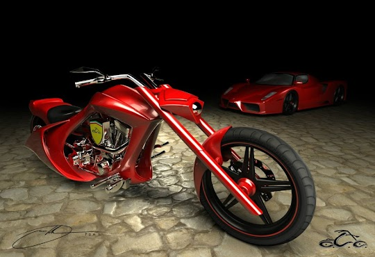 OCC's Ferrari Bike, American Chopper: Senior vs Junior
