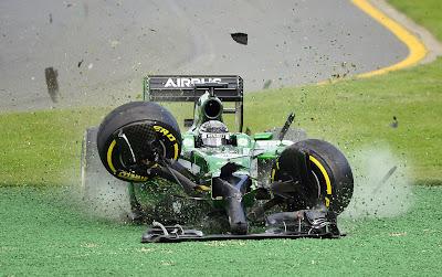 авария Камуи Кобаяши на Гран-при Австралии 2014